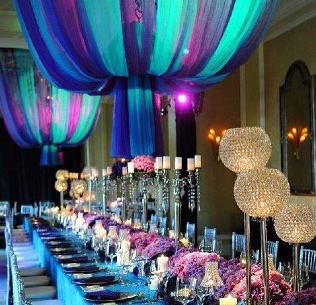 Teal and purple decorations my faves pinterest - Purple and teal centerpieces ...
