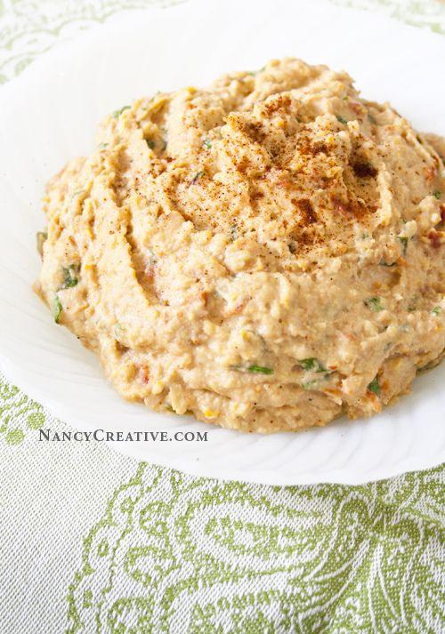 Sun-Dried Tomato Hummus | Sounds delish to me! | Pinterest