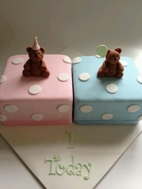 Cake Ideas For Twins First Birthday : Birthday cake for twins Cakes to try?!? Pinterest