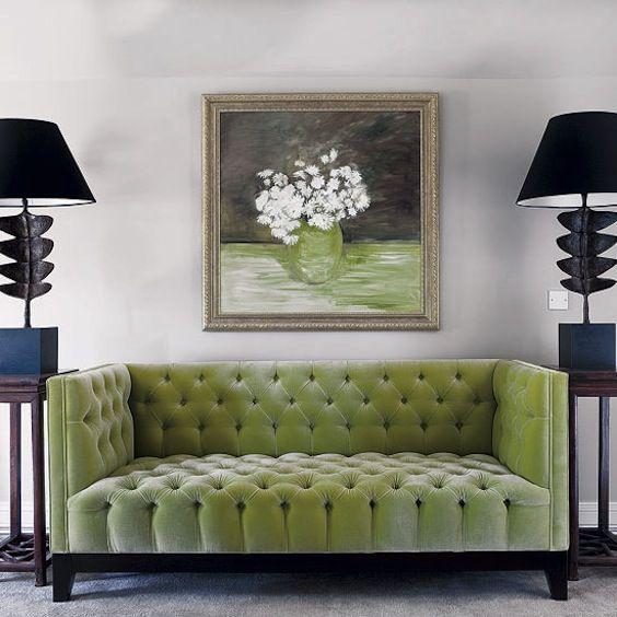 light green velvet sofa home pinterest. Black Bedroom Furniture Sets. Home Design Ideas