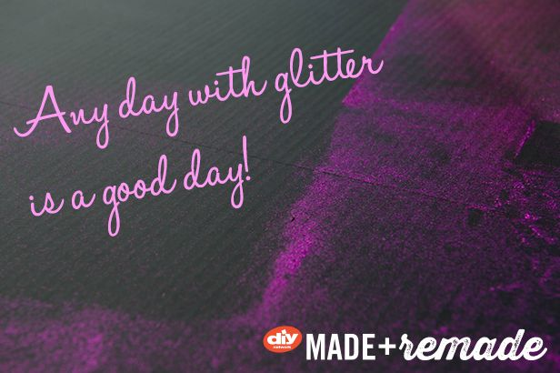 """Any Day With Glitter is a Good Day!"" >> http://blog.diynetwork.com/maderemade/2013/10/25/find-our-pumpkin-decorating-how-tos-on-instagram?soc=pinterest"
