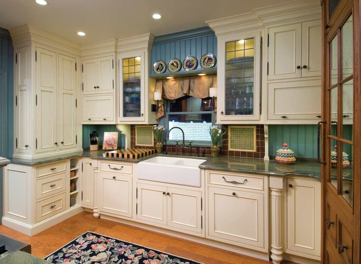 Teal beadboard in small white kitchen kitchens pinterest for Teal kitchen ideas