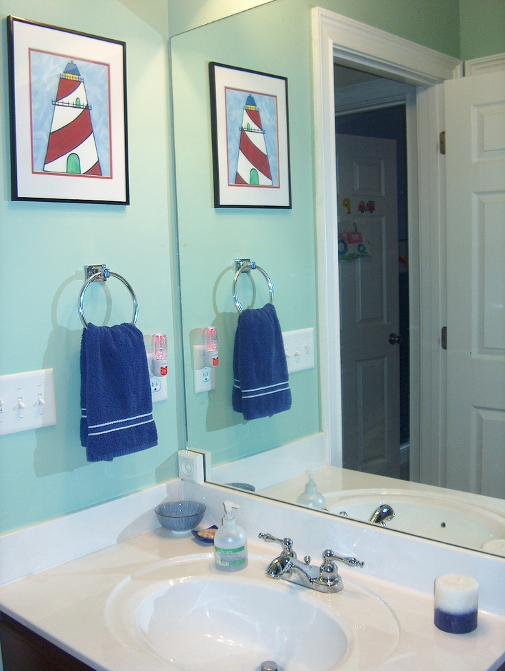 Bathroom decor nautical home decor ideas pinterest for Bathroom decor lighthouse