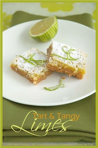 Very Tangy Lime Bars | Citrus | Pinterest