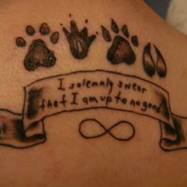 The gallery for --> Padfoot Tattoo