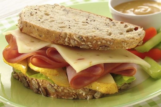 Enjoy a tasty sandwich, made with Ham, Pear and our Reduced Fat Pepper ...