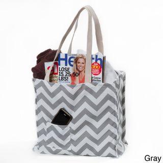 Women's Chevron Print Weatherproof Tote Bag | Overstock.com