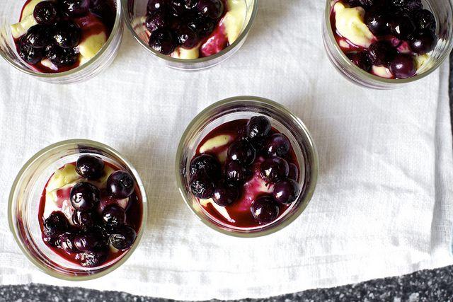Vanilla Custards with Roasted Blueberries | Smitten Kitchen