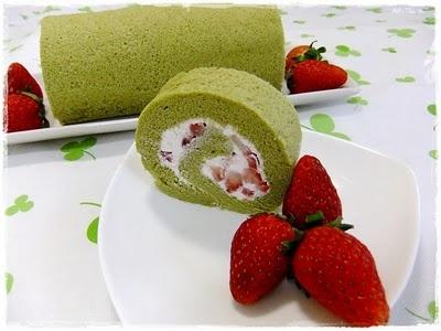 Green Tea Souffle Swiss Roll | Japanese green tea♡Matcha(抹茶 ...