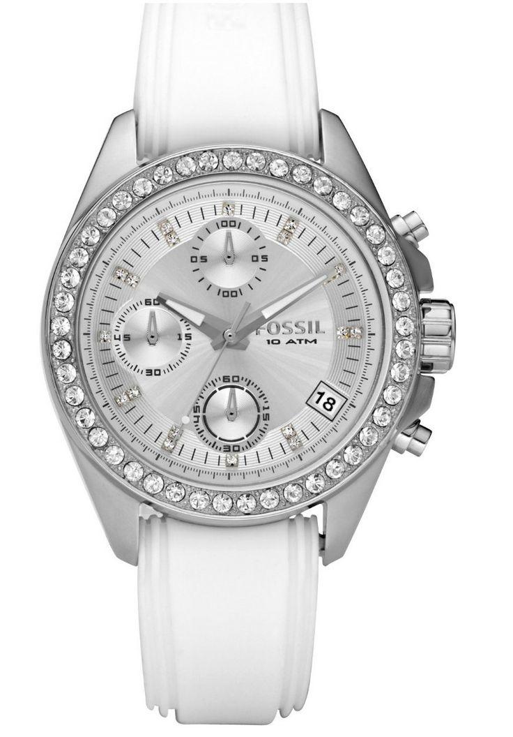 Fossil Armbanduhr Damen Holz ~ fossil damen armbanduhr ladies dress chronograph quarz es2883 big jpg
