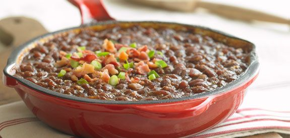 Sandra Lee Smoky and Spicy Baked Beans- Smoky and Spicy Baked Beans