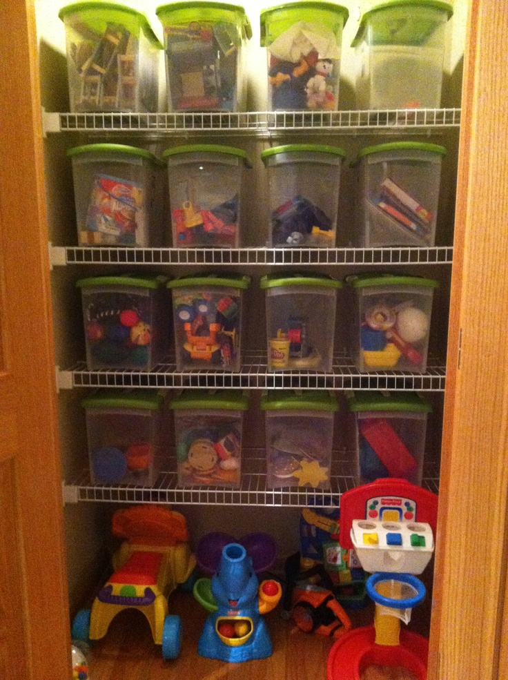 Closet toy storage in playroom i wish our closets looked Closet toy storage ideas