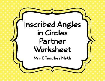 angles worksheet in addition central and inscribed angles worksheet ...