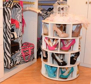 Lazy Susan Shoe Rack | DIY | Pinterest
