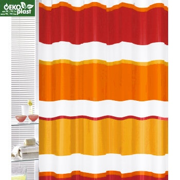 Curved Tension Shower Curtain Rod Red Orange Bedspread