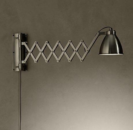 Industrial Scissor Wall Lights : scissor arm wall light. Cottage Lighting Pinterest