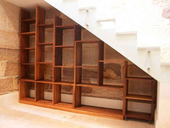 Stair Storage Shelf : under stairs bookcase  decor  Pinterest