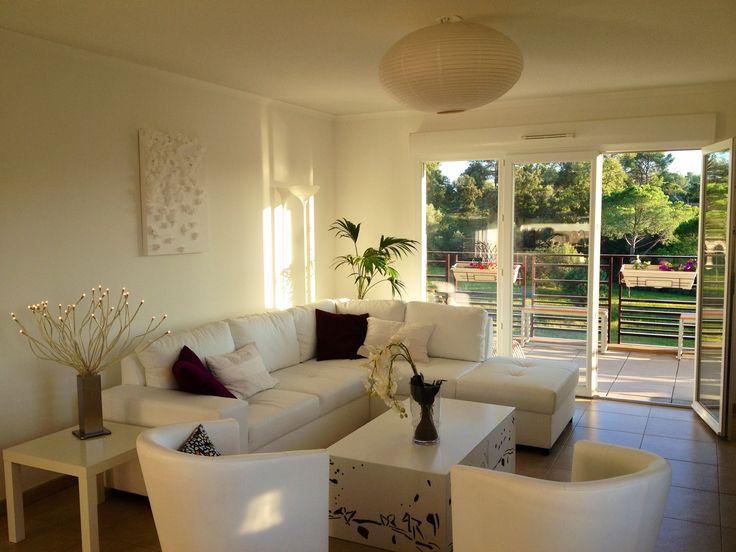 S jour canap d 39 angle blanc deco salon pinterest for Deco sejour blanc