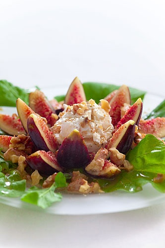 Fig, Walnut and Goat Cheese Salad | Foodie Fun | Pinterest