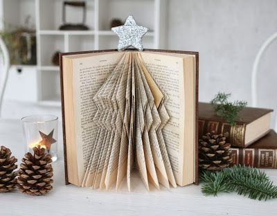Book folding diy pinterest for Christmas tree made from old books
