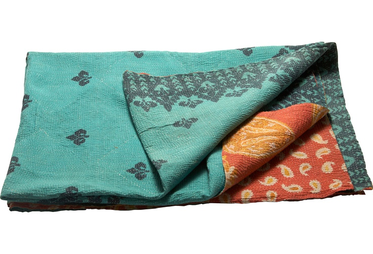 One Kings Lane - The Best Exotic Marigold Hotel - Kantha IV >> So beautiful, love the colors and patterns!