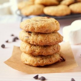 Cornflake-Chocolate Chip-Marshmallow Cookies. A bowl of cereal, s'more ...