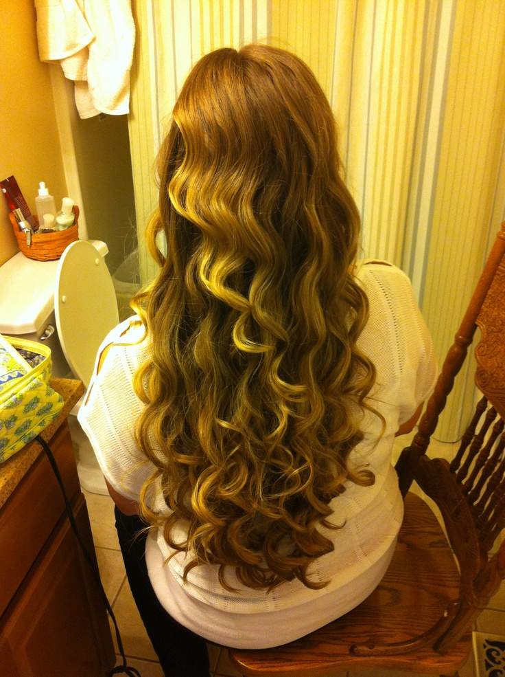 how to use a curling wand on long hair