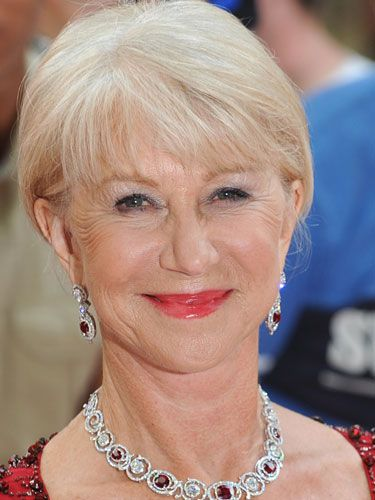 Helen Mirren Hairstyle with Bangs