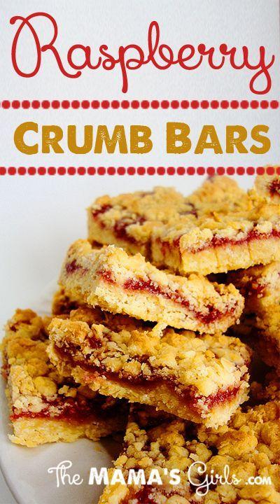 Raspberry Crumb Bars. | Bar None | Pinterest