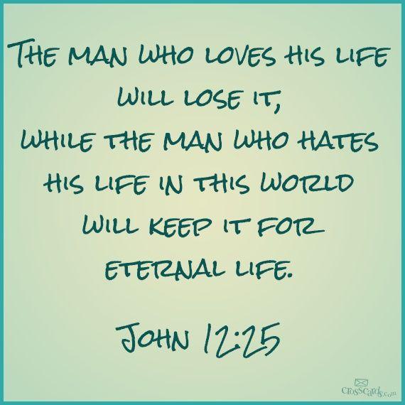Image result for  John 12:25