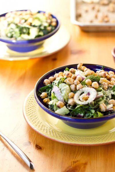 Tuscan Kale Chickpea Salad
