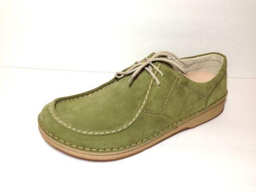 BIRKENSTOCK Footprints shoes MEN suede GREEN lace up nursing NEW size