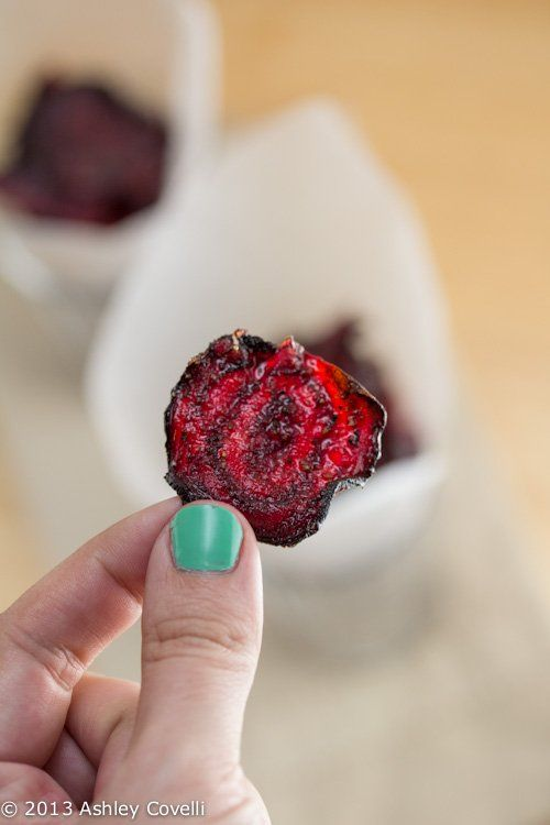 Baked Beet Chips, honestly my favourite snack!