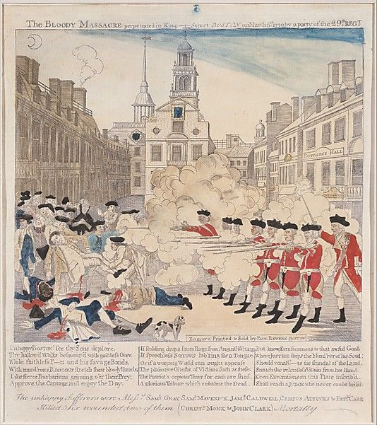 the colonists account of the boston massacre in 1770 The boston massacre really did not have a purpose  its purpose was to prevent a group of british soldiers from being harmed by a crowd of angry colonists in the spring of 1770, british.