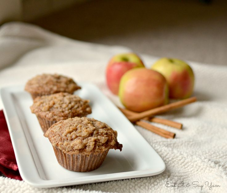 Spiced Apple Cider Muffins With Streusel Topping Recipe — Dishmaps