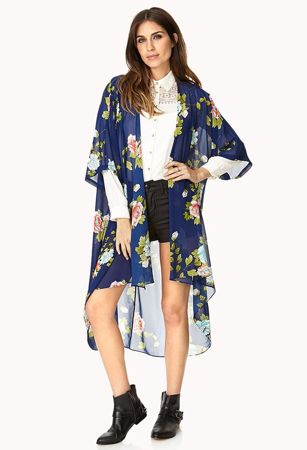 Chiffon Dresses: Forever 21 Floral Kimono