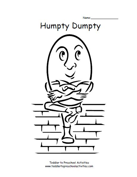 Humpty Dumpty Coloring Page Coloring Pages Pinterest Humpty Dumpty Coloring Page