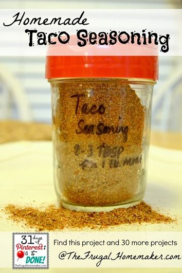 Homemade Taco Seasoning (Day 12 of 31 days of Pinterest: Pinned to ...