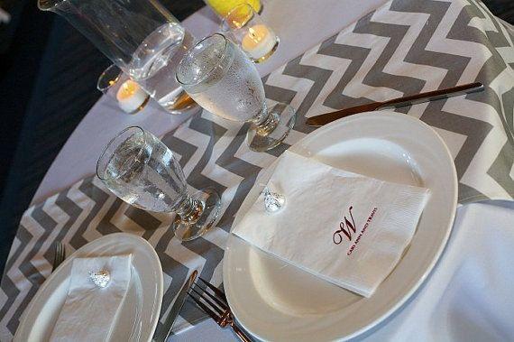 table Grey Zig Shower runner  TABLE  zig RUNNER Decor  pattern zag  Home Zag Pattern Wedding Chevron