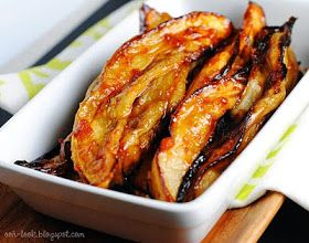 Ooh, Look...: Aubergine....! Honey and Harissa glazed Eggplant