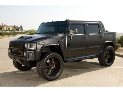 H2 Hummer with black matte paint job.