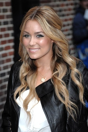 Lauren Conrad half up-do hairstyle