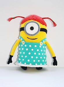 Despicable Me 2 Stuart Girl Minion movie crochet Pattern ...