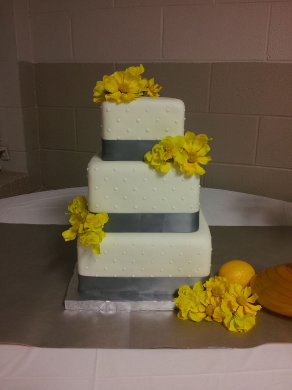 gray and yellow wedding cake my wedding pinterest