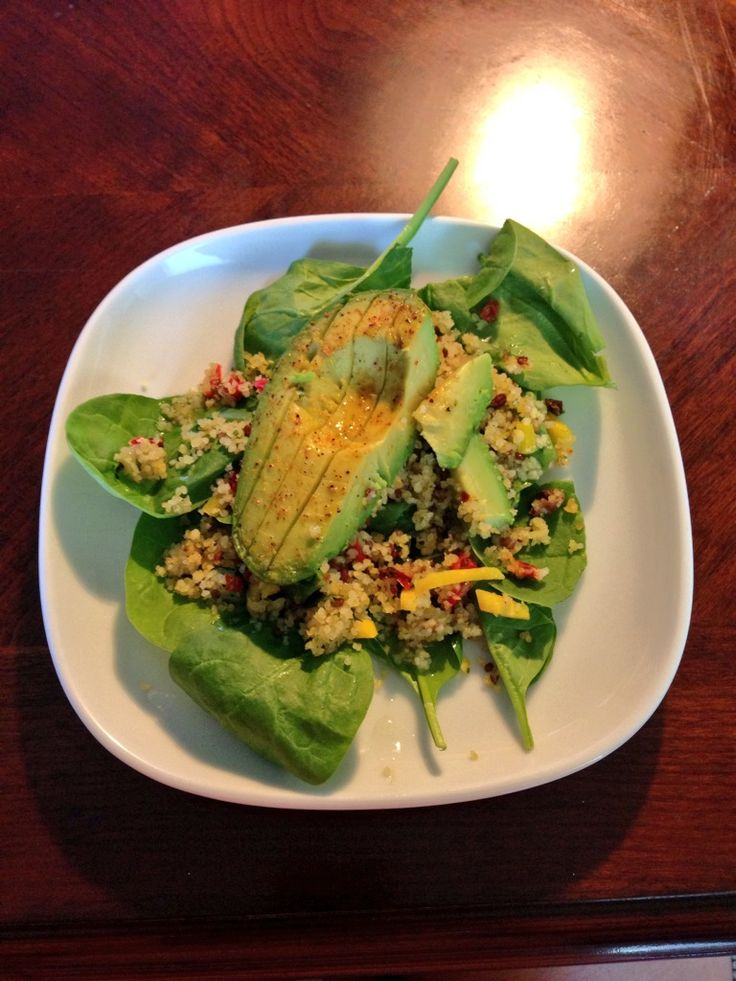 Grilled avocado and Couscous Salad. | meals | Pinterest