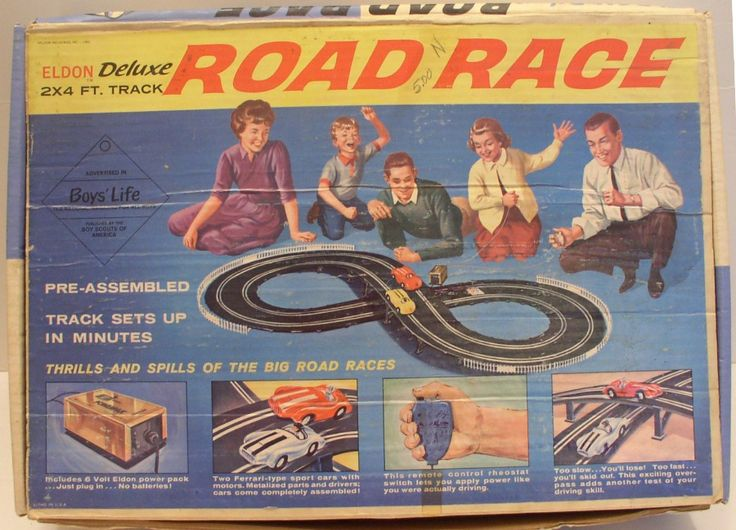 ELDON: 1960s Deluxe Road Race Slot Racing Track #Vintage #Toys