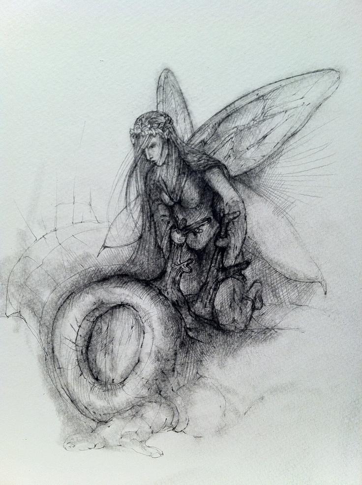Pencil drawing, Fairy | Mushroom | Pinterest
