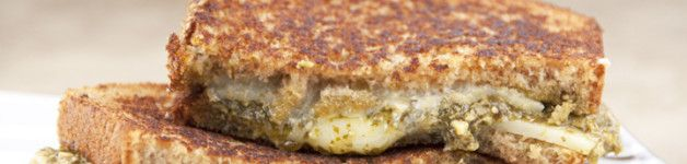 Spinach-Basil Pesto Grilled Cheese Sandwich Recipe for National ...