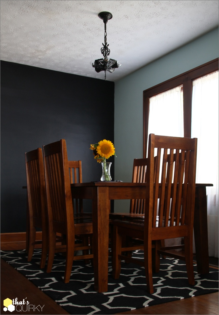 After midnight by benjamin moore wall paint dark for Wall colors with dark wood trim