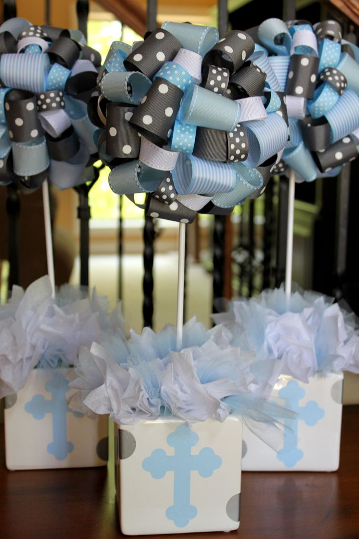 Baptism party color scheme first communion pinterest for Baby christening decoration ideas
